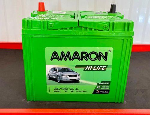 แบตเตอรี่ Amaron HiLife 55B24L แบตแห้ง รับประกัน 2ปี