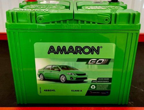 แบตเตอรี่รถยนต์ Amaron Go 46B24L แบตแห้ง สำหรับรถเก๋ง